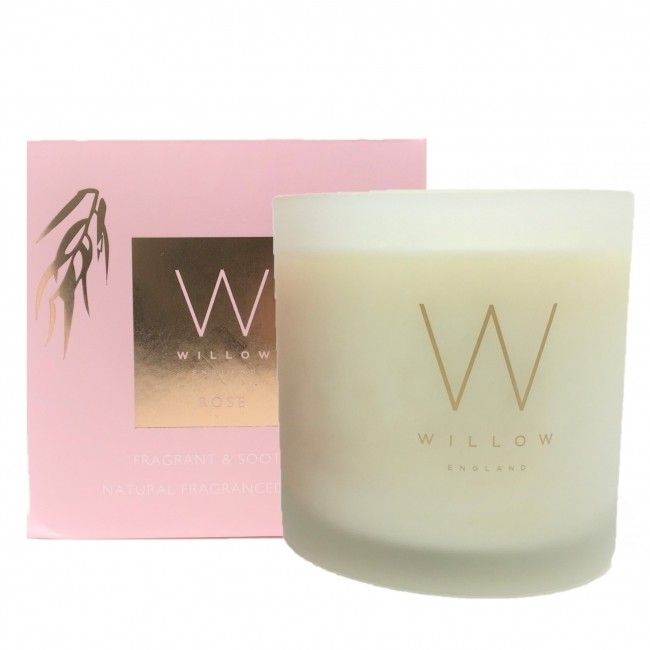 3 Wick Rose Candle