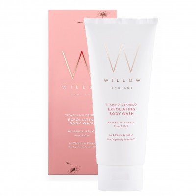 Rose Exfoliating Body Wash with Vitamin A & Bamboo
