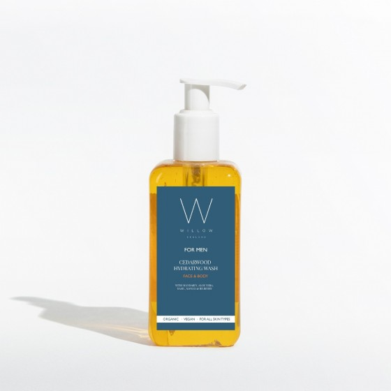 Men's organic face & body wash